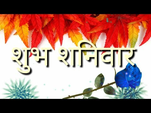 शुभ शनिवार Good Morning Video WhatsApp Status Happy Saturday Enjoy