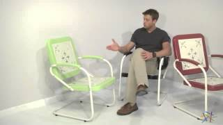 Paradise Cove Retro Metal Arm Chair - Product Review Video