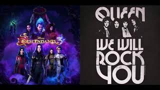 Disney Descendants Cast - Night Falls (We Will Rock You! Remix) ( Audio) Ft. Queen