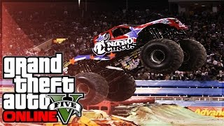 GTA Online MONSTER TRUCK CITY RAMPAGE! Funny Moments GTA 5
