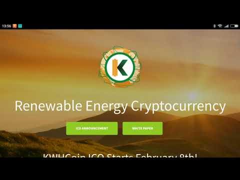 KWHCoin! Renewable Energy Cryptocurrency!