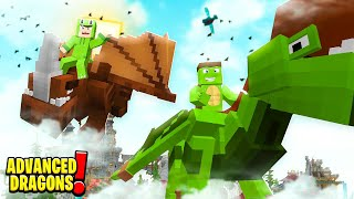 CHECK OUT OUR NEW DRAGONS! - Minecraft Advanced Dragons