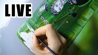 Painting Live - Green Bottle - 14th