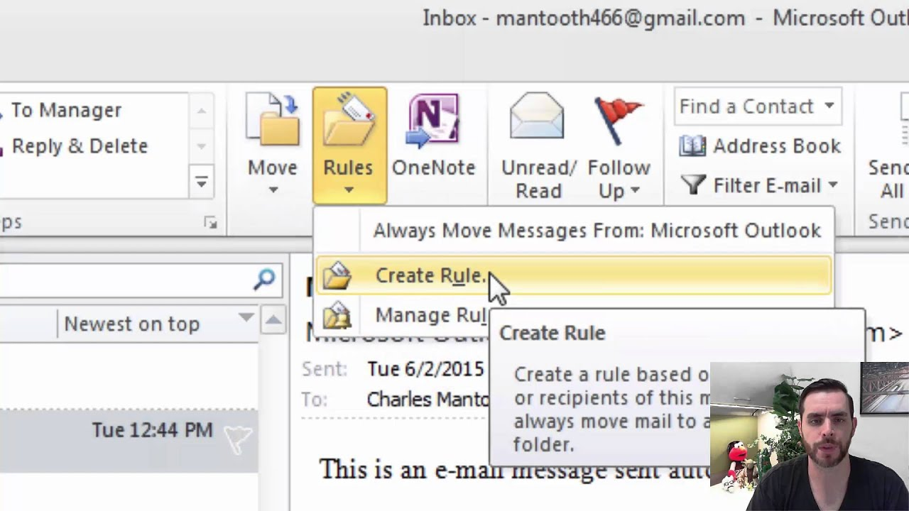 how to add out look to gmail