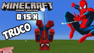 Columpiate como spiderman Truco Minecraft PE 0.15.x Tutorial volvimos!!