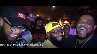 ANOTHER CLASSIC MOMENT IN BATTLE RAP with SMACK,HITMAN,CLIPS,JOHN JOHN AND GOODZ
