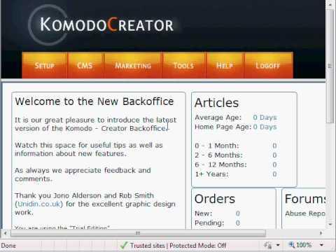 Komodo Article Creation