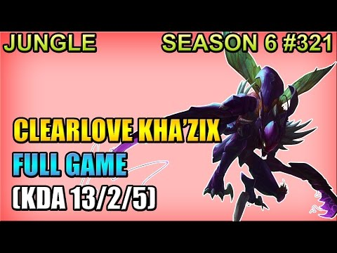 EDG Clearlove - Kha'Zix vs Gragas - Jungle - Full Game (Jun 04, 2016)