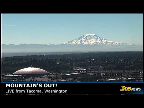 Mount Rainier LIVE from Tacoma, Washington