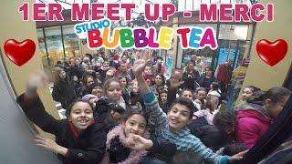 vlog merci aux 500 personnes venues au 1er meet up studio bubble tea meetup