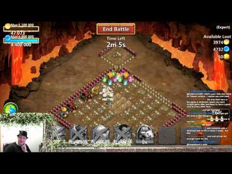 Castle Clash - Farming R, Expert Dungeon & WG 3 Solo Atempts