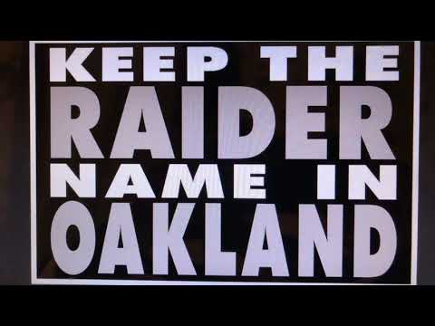 "Get ""Keep Oakland Raiders Name In Oakland"" Signs At MOB Alley 559 66th Av"