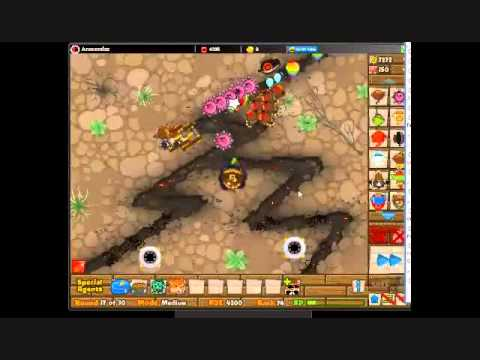 Btd5 special mission wizard lord funny strategy youtube