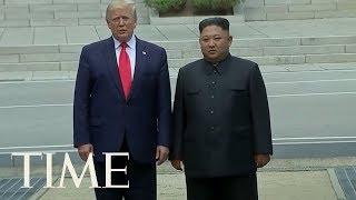 President Trump And Kim Jong Un Shake Hands At Korean DMZ At Impromptu Meeting | TIME
