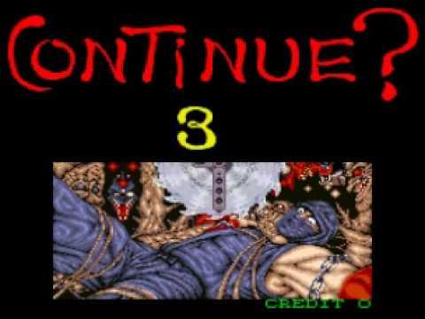Game Over Ninja Gaiden Arcade Youtube