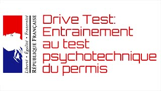 DriveTest, logiciel d'entrainement au test psychotechnique du permis de conduire