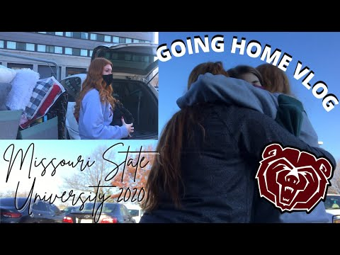 GOING HOME FOR THE HOLIDAYS VLOG | Missouri State University (2020)