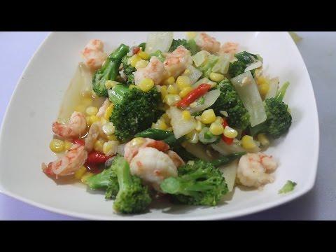 Recipe Sauté Vegetable Shrimp Broccoli Corn