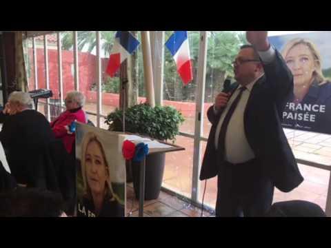 Intervention de Dominique Martin à la galette des rois du FN 66