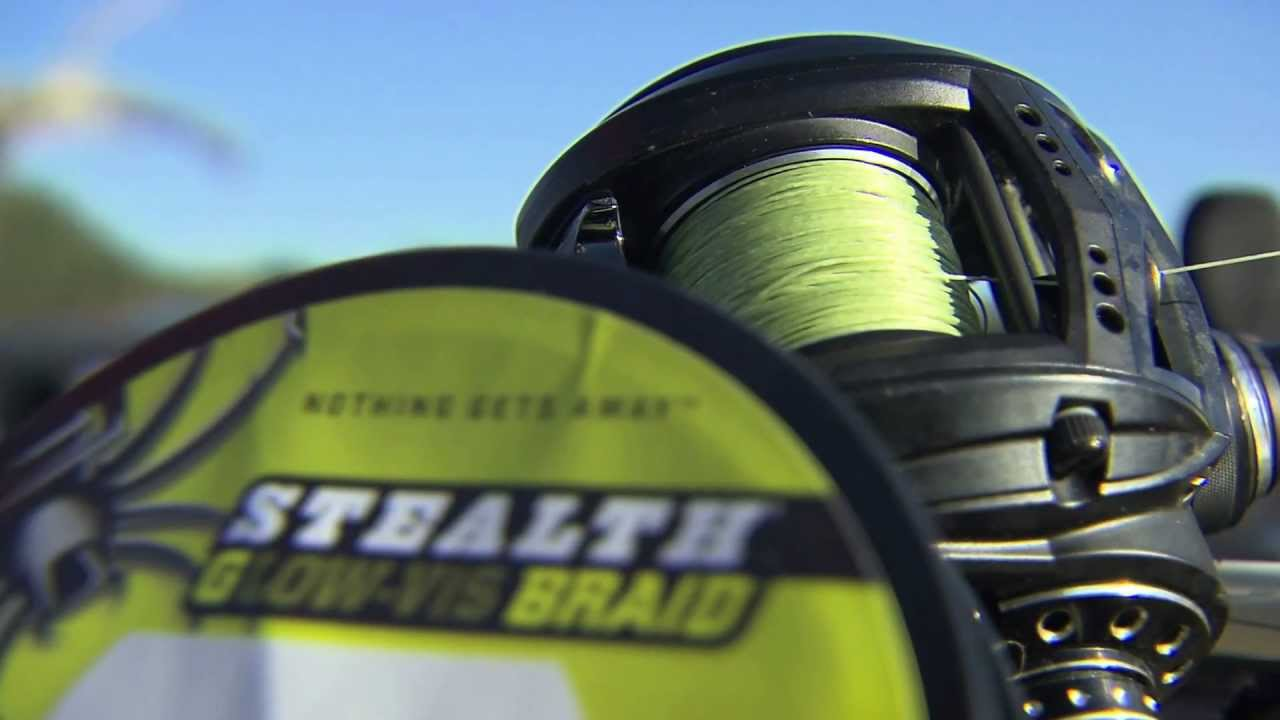 stealth glow vis fishing line - spiderwire - youtube, Reel Combo