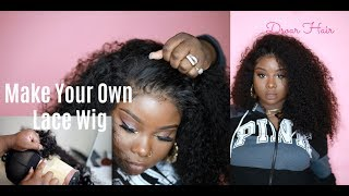 ♡ Detailed How To Make a Lace Frontal Wig | #Dsoar Hair Peruvian Curly