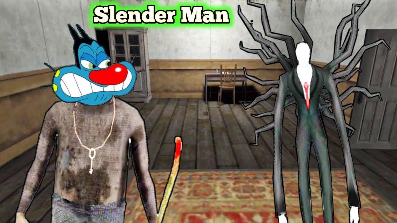 Lamba Insane   Slender Man Horror Game With Oggy and Jack