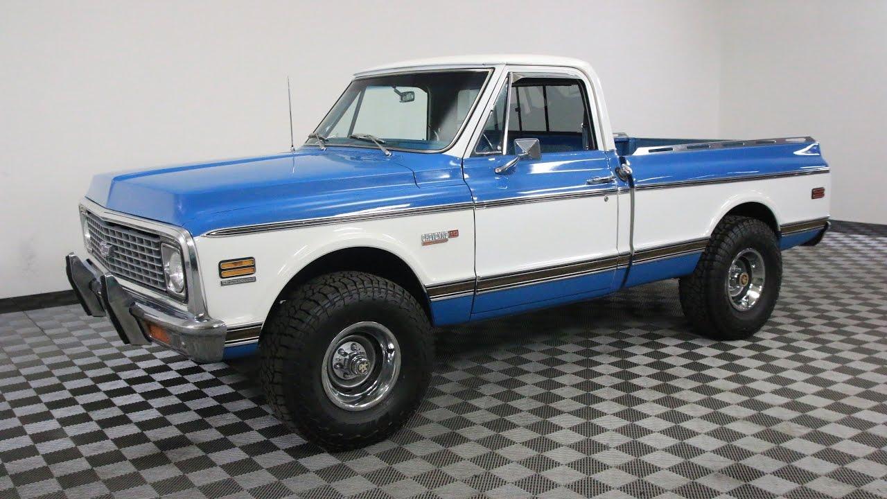 All Chevy 1972 chevrolet cheyenne super : 1972 CHEVROLET CHEYENNE SUPER BLUE/WHITE - YouTube