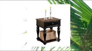 Riverside Richland End Table - Prestige Black  Ridgway Cherry - 65709