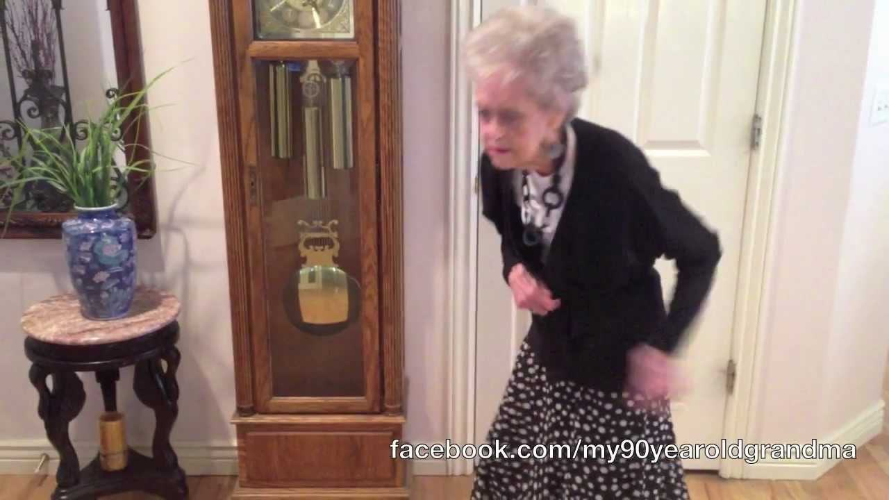 my 90-year-old grandma dances to whitney houston - i wanna dance