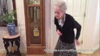 My 90-Year-Old Grandma Dances to Whitney Houston - I Wanna Dance with Somebody