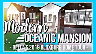 ROBLOX | Bloxburg: MY 2019 MODERN OCEANIC MANSION TOUR♡