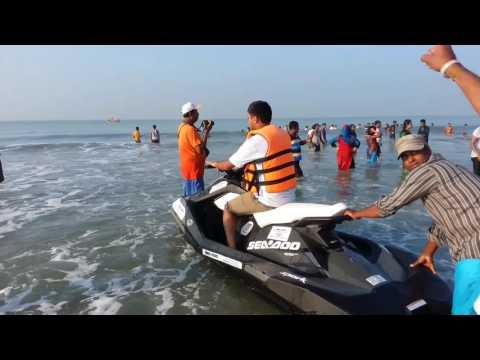 Speed boats drive in Cox bazar,Bangladesh