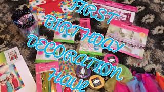 FIRST BIRTHDAY DECORATION HAUL | RAINBOW BABY | HOW IS MY BABY ALREADY 1!?!?