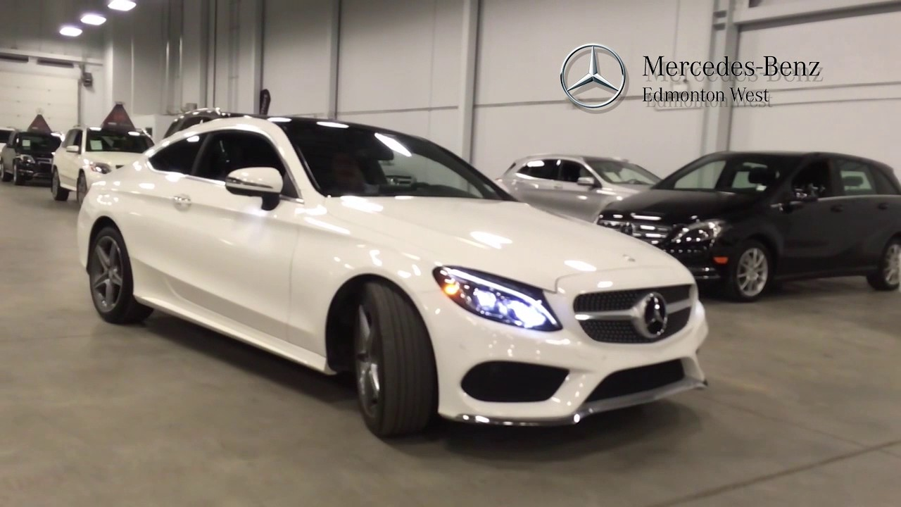 2017 mercedes-benz c300 4matic+ coupe premium | edmonton, ab - youtube