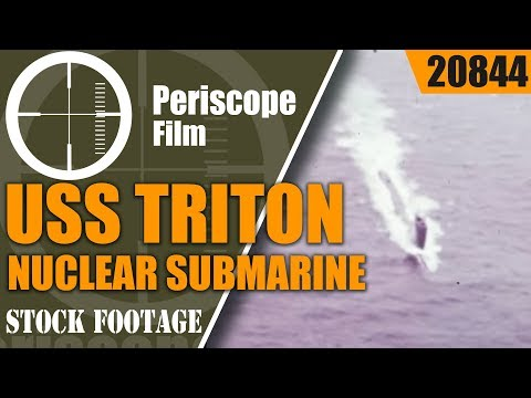 USS TRITON  NUCLEAR SUBMARINE   1ST SUBMERGED CIRCUMNAVIGATION OF THE WORLD  20844