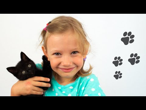 Alena really wants to have a pet - Kitty story