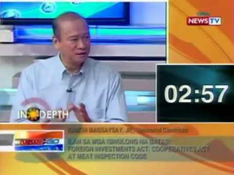 Ramon Magsaysay Jr. - Interview - GMA 7 - In Depth