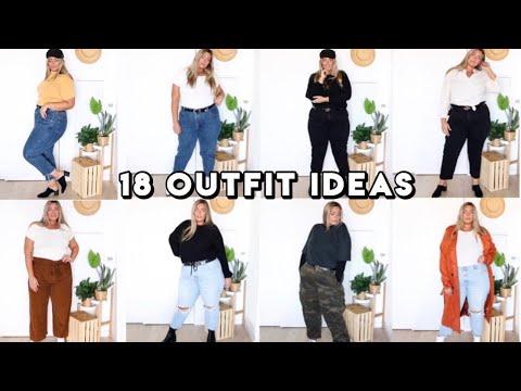 18 Plus Size Outfit Ideas | Plus Size Lookbook - YouTube