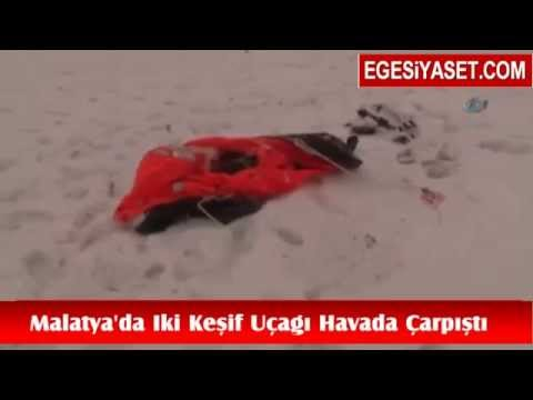 Malatya'da İki Keşif Uçağı Havada Çarpıştı