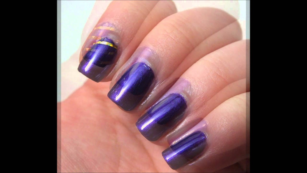 Mardi Gras Nails - YouTube