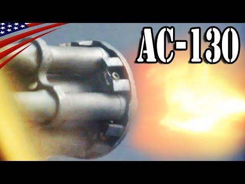 Gunship AC-130U Spooky II & AC-130W Stinger II Guns, Howitzer Fire - ガンシップ AC-130 機関砲・榴弾砲 発射