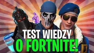 TEST WIEDZY O FORTNITE! SPRAWDŹ SIĘ! (Fortnite Battle Royale)