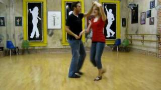 salsa, mambo, guys right spins, copa ending from cross hands