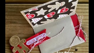Make An Easy Christmas Gift Card Holder from An Envelope