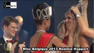 Miss België 2013  Noémie Happart  (kroontje overhandiging....)