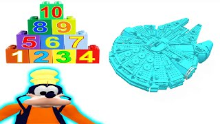 Čísla Učiť Sa Deti Lego Veľký Vesmírna Loď Videá Goofy Raketa