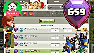 1 ST TIME GLOBAL RANK PUSHING IN CLASH OF CLAN BEST STRATAGY. INCLUDING ATTACKS ,😈😈