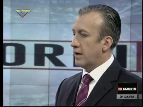 """Vicepresidente Tareck El Aissami en el programa """"Con Amorín"""""""