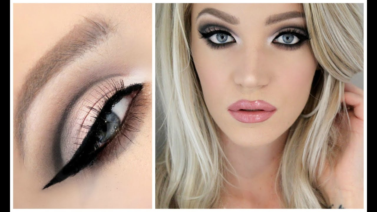 cut crease baby pink lips good for hooded lids too