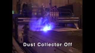 """The """"slagger"""" Self Cleaning Downdraft Table For High Production Plasma Cutting Machines"""